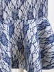 Blue Mermaid Printed Sweet Midi Skirt
