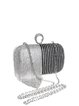 Silver Mini Evening Fringed Clutch