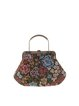 Clasp Lock Floral Embroideried Retro Medium Top Handle