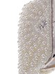 White Beaded Evening Clutch