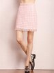 Pink Work A-line Wool Blend Mini Skirt