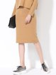 Camel Simple Knitted Bodycon Stretchy Midi Dress