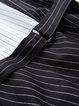Black Sheath Crew Neck Simple Color Block Stripes Mini Dress