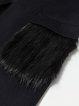 Navy Blue Long Sleeve Plain Pockets Coat with Belt