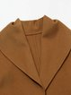 Khaki Lapel Long Sleeve Coat with Belt