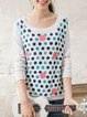 Casual Long Sleeve Polka Dots Sweater