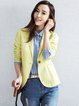 Yellow Work Linen Blazer