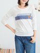 White Long Sleeve Crew Neck T-Shirt