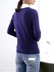 Casual Knitted Plain Crew Neck Long Sleeve Sweater