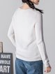 Long Sleeve Plain Casual Knitted Sweater