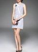 H-line Cocktail Sleeveless Beaded Mini Dress