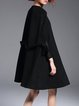 Black Plain Swing Statement Cape
