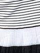 Dark Blue Stripes Crew Neck Casual Mini Dress