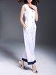 White Pockets Simple Linen Two Piece Jumpsuit