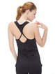 Black Spandex Moisture Permeability Top (Sportswear for Yoga)