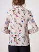 Multicolor Butterfly  Printed Long Sleeve Shirt Collar Blouse