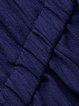 Dark Blue Half Sleeve Lapel Solid Jumpsuit