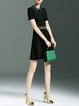 Black Paneled Simple A-line Mini Dress