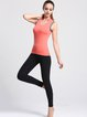 Orange Breathable Stretchy Polyester Top (Sportswear for Outdoor)