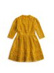 Yellow Lace A-line Girly Mini Dress