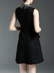 Black Cocktail Paneled Mini Dress