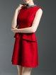 Cocktail Sleeveless A-line Mini Dress