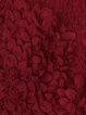Wine Red A-line Statement Polyester Mini Dress