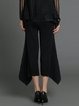 Black Geometric Statement Flared Pants