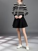Long Sleeve Casual Two Piece Stripes Mini Dress