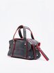 Black Small Casual PU Satchel