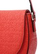 Orange Small Embossed Cowhide Leather Casual Crossbody