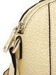 Small Zipper Embossed Cowhide Leather Casual Crossbody