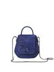 Royal Blue Cowhide Leather Casual Small Crossbody