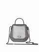 Small Fold-over Flat Top Cowhide Leather Casual Crossbody
