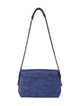 Royal Blue Cowhide Leather Casual Medium Shoulder Bag
