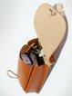 Brown Retro Cowhide Leather Drawstring Crossbody
