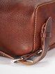 Coffee Cowhide Leather Medium Retro Backpack