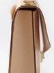 Khaki Medium Cowhide Leather Retro Satchel