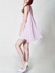 Shift Sleeveless Plain Ribbed Simple Shirt Dress
