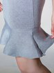 Plain Crew Neck Flounce Sleeveless Elegant Mini Dress