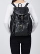 Casual Cowhide Leather Medium Magnetic Backpack