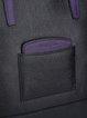 Black Casual Cowhide Leather Zipper Medium Satchel