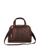 Coffee Casual Cowhide Leather Zipper Satchel