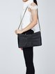 Magnetic Medium Leather Casual Shoulder Bag