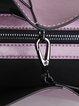 Purple Zipper Cowhide Leather Top Handle