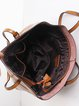 Crimson Medium Cowhide Leather Simple Tote