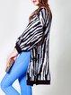 Black H-line Long Sleeve Knitted Slit Cardigan