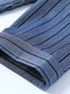 Casual Stripes 3/4 Sleeve Stripes Mini Dress