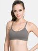 Deep Gray Stretchy Nylon Breathable Sports Bra