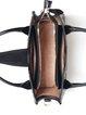 Retro Zipper Embossed Cowhide Leather Medium Top Handle